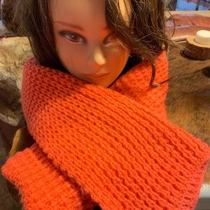 Xhilaration Orange Knit Winter Scarf